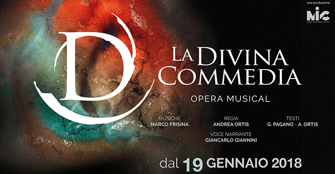"19 – 24 gennaio 2018 ""La Divina Commedia – Opera Musical"" al Teatro Brancaccio"