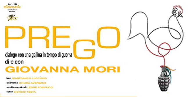 """26 – 28 gennaio 2018 """"Prego"""" al Teatro Brancaccino"""