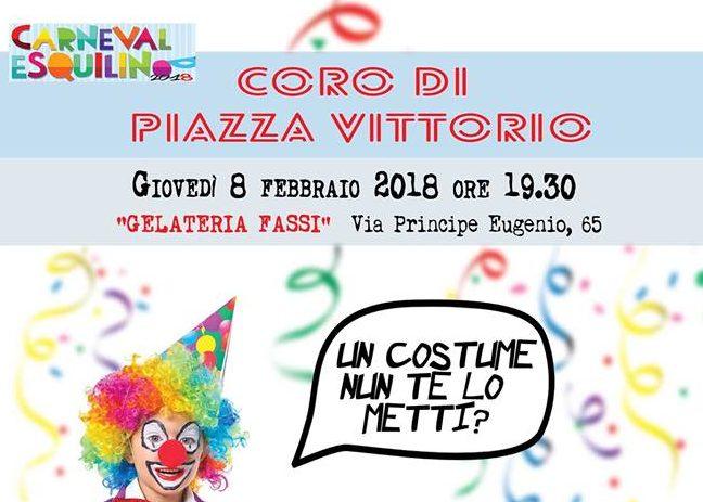 8 febbraio 2018 Festa di Carnevale con il Coro di Piazza Vittorio presso il Palazzo del Freddo