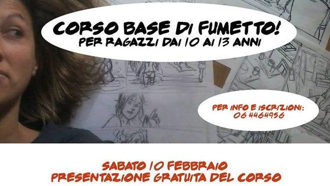 10 febbraio 2018 Presentazione del Corso base di Fumetto per ragazzi dai 10 ai 13 anni presso la Libreria Pagina 2