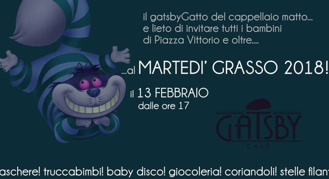 "13 febbraio 2017 ""Festa di Carnevale"" al Gatsby Cafè"