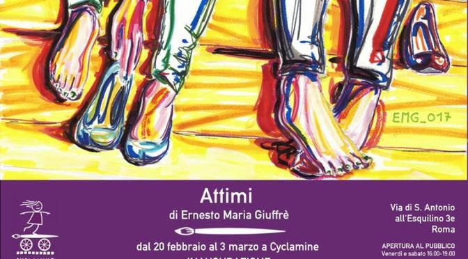 """20 febbraio – 3 marzo 2018 """"Attimi"""" presso Cyclamine"""