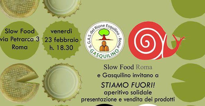 """23 febbraio 2018 Evento """"Stiamo Fuori"""" presso Slow Food Roma"""