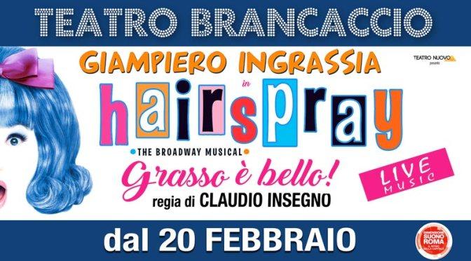 """20 febbraio – 4 marzo 2018 """"HAIRSPRAY – Grasso è bello"""" al Teatro Brancaccio"""