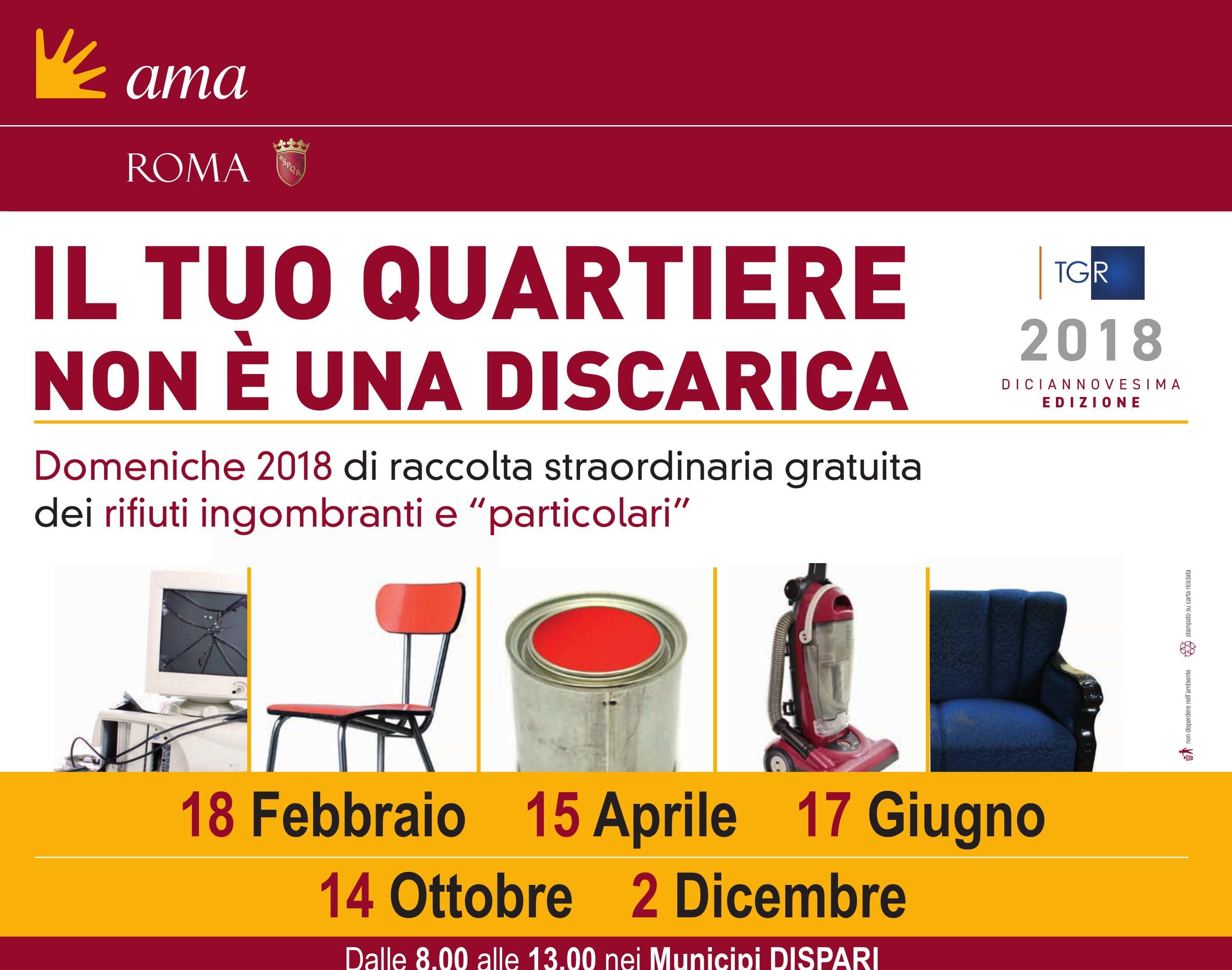 Raccolta Rifiuti Ingombranti Roma Calendario 2020.17 Giugno 2018 Raccolta Straordinaria Gratuita Dei Rifiuti