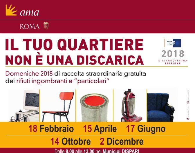 18 febbraio 2018 Raccolta straordinaria dei rifiuti ingombranti gratuita a Piazza Vittorio