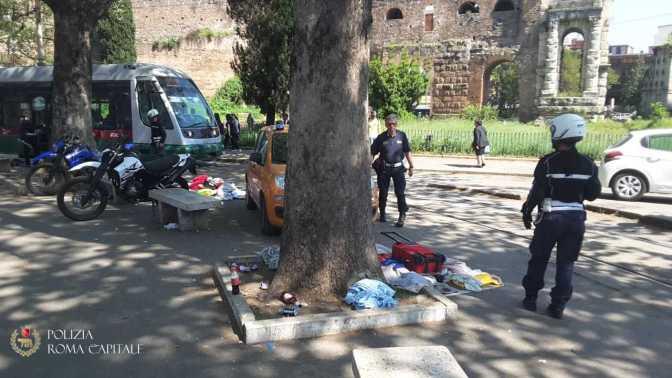 Esquilino, Porta Maggiore: nuovi interventi della Polizia Locale