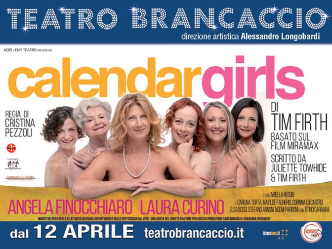 "12 – 15 aprile 2018 ""Calendar Girls"" al Teatro Brancaccio"