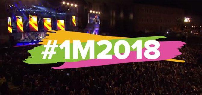 1 maggio 2018 Il Concerto a Piazza San Giovanni