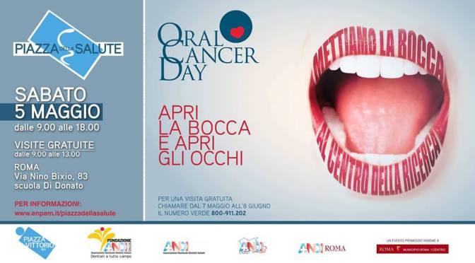 """5 maggio 2018 """"Oral Cancer Day"""" presso la Scuola Di Donato"""