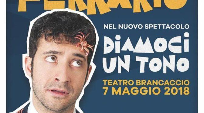 """7 maggio 2018 """"Diamoci un tono"""" al Teatro Brancaccio"""
