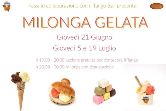 """19 luglio 2018 """"Milonga Gelata"""" al Palazzo del Freddo – Fassi"""