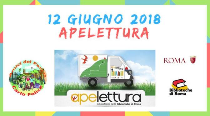 """12 giugno 2018 """"Apelettura"""" al Parco Carlo Felice"""