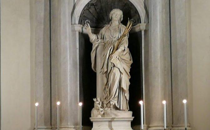 Santa Bibiana, la statua, il restauro e le sorprese