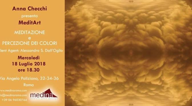 """18 luglio 2018 """"Meditazione e percezione dei colori"""" presso lo Studio Medina"""