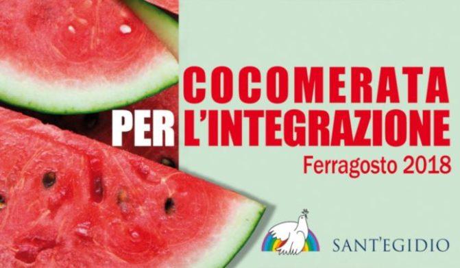 """15 agosto 2018 """"Cocomerata per l'integrazione"""" a Piazza Vittorio"""