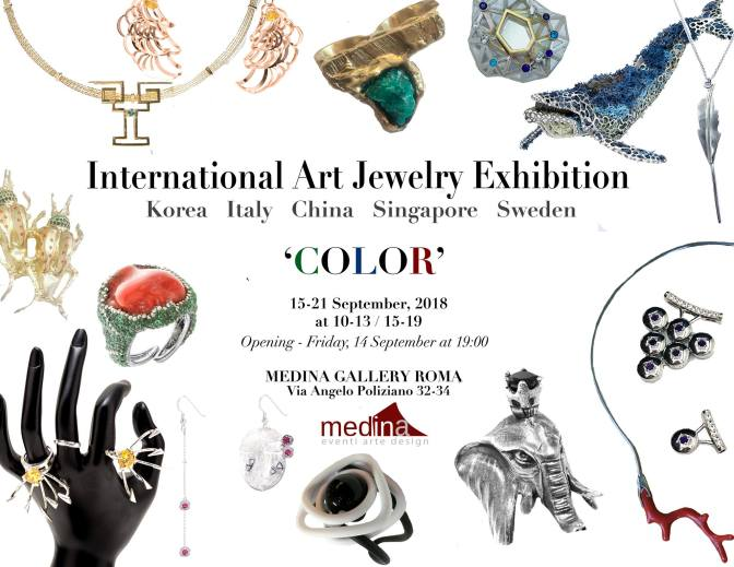 "14 – 21 settembre 2018 ""International Art Jewerly Exhibition (IAJE)"" allo Studio Medina"