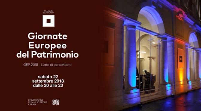22 settembre 2018 – Apertura straordinaria di Palazzo Merulana per le Giornate Europee del Patrimonio