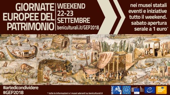 """22-23 settembre """"Giornate Europee del Patrimonio"""""""
