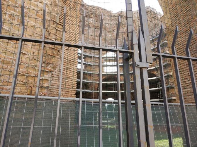 Settembre 2018: Lo stato dei restauri presso il cd. Tempio di Minerva Medica