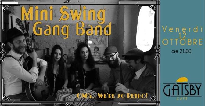 """12 ottobre 2018 """"Mini Swing Gang Band – Swing some Ragtime&Jive!"""" al Gatsby Cafè"""