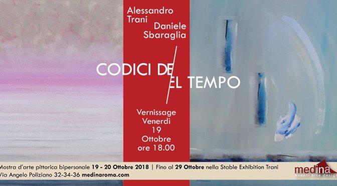 """19 – 29 ottobre 2018 – Esposizione bipersonale """"Codici del Tempo"""" allo Studio Medina"""