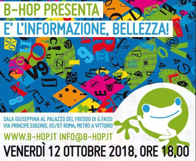 """12 ottobre 2018 presentazione di """"B-HOP"""" al Palazzo del Freddo – Fassi"""