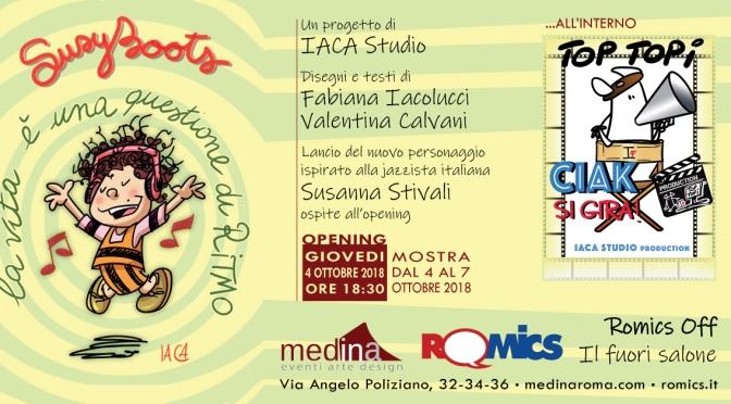 """4 – 7 ottobre 2018 """"Romics Off, il Fuori Salone: Susy Boots di IACA Studio"""" allo Studio Medina"""