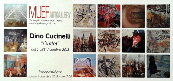 """1 – 8 dicembre 2018 """"Outlet"""" mostra di quadri di Dino Cucinelli alla Galleria d'arte MUEF"""