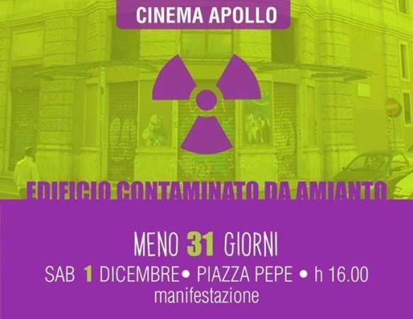 """1 dicembre 2018 """"Apollo Manifestazione"""" a via Guglielmo Pepe"""