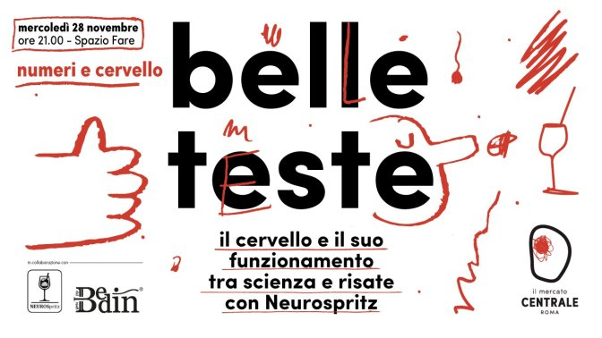 """28 novembre 2018 """"Belle Teste"""" al Mercato Centrale"""