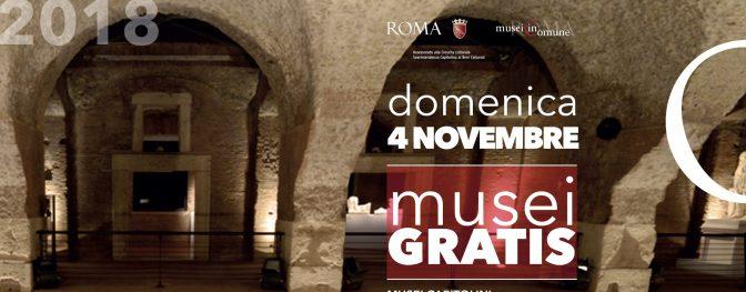 4 novembre 2018 #DOMENICALMUSEO Musei gratis per tutti