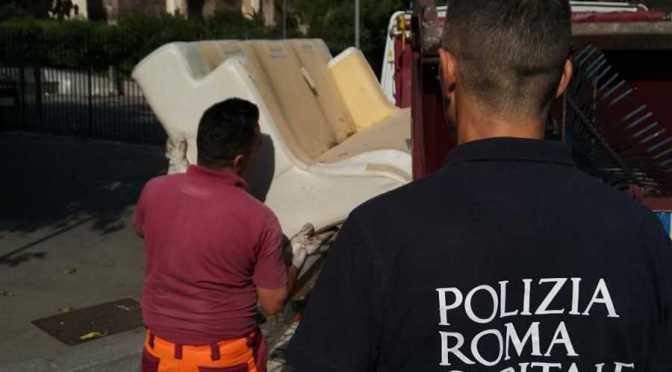 Operazioni decoro. Interventi della Polizia Locale sul territorio capitolino: da Terme di Caracalla al Tuscolano.