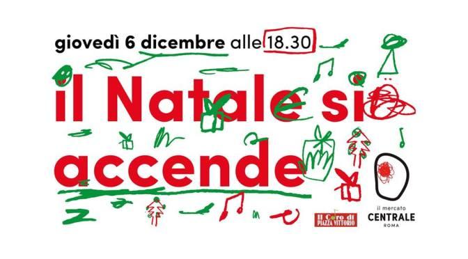"""6 dicembre 2018 """"Il Natale si accende"""" con il Coro di Piazza Vittorio al Mercato Centrale"""