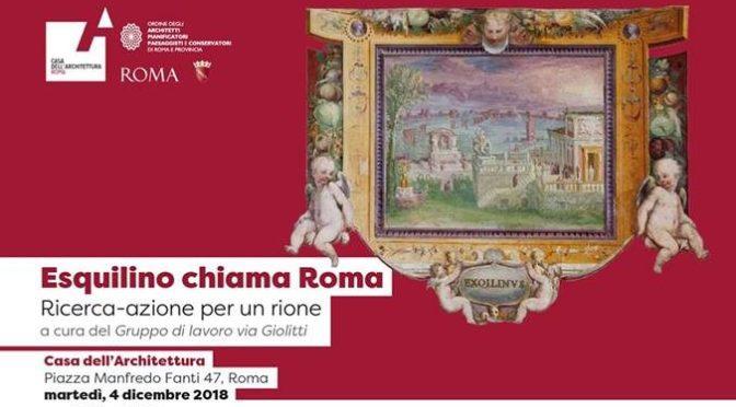 """4 dicembre 2018 di """"Esquilino chiama Roma"""" all'Acquario Romano"""