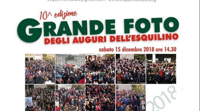 15 dicembre 2018 10° edizione della Grande Foto degli Auguri dell'Esquilino a Piazza vittorio