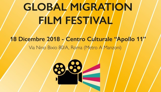"18 dicembre 2018 ""GLOBAL MIGRATION FILM FESTIVAL"" all'Apollo 11"