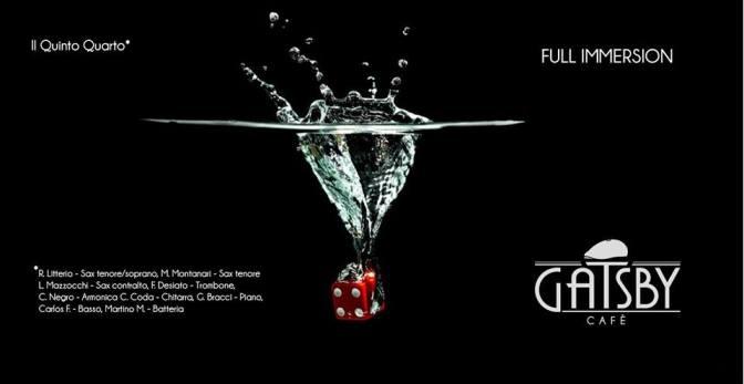 """12 gennaio 2019 – """"Il Quinto Quarto – Jazz Ensemble"""" al Gatsby Cafè"""