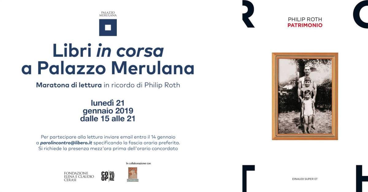21 gennaio Maratona di lettura al Palazzo Merulana
