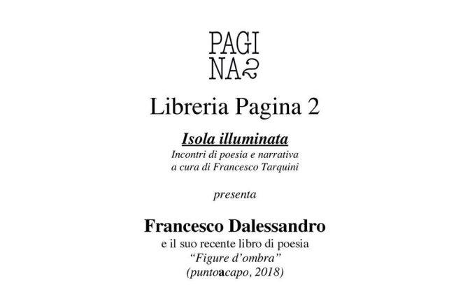 """19 gennaio 2018 presentazione del libro di poesia """"Figure d'ombra"""" presso la Libreria Pagina 2"""