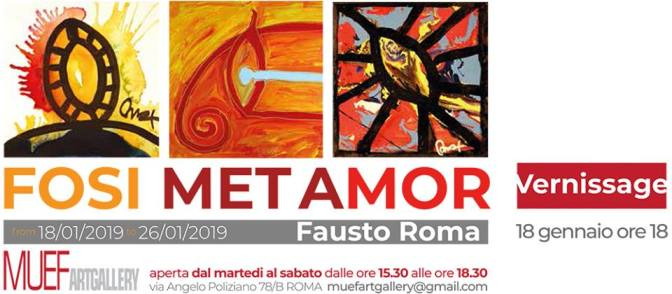 "18 – 26 gennaio 2019 ""Fosi Met Amor"" mostra d'arte presso MUEF ArtGallery"