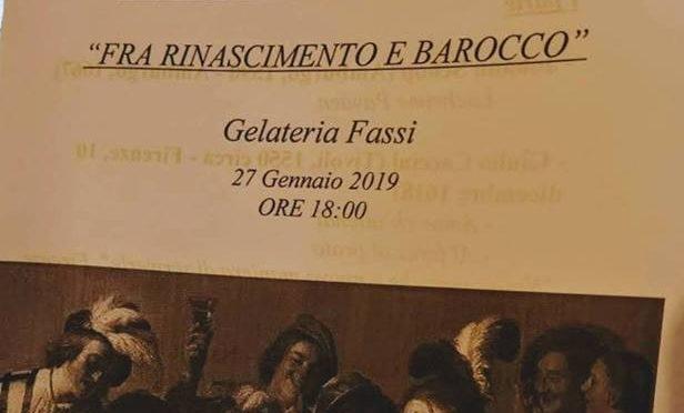 """27 gennaio 2019 Concerto di Musica Antica """"Fra Rinascimento e Barocco"""" al Palazzo del Freddo Fassi"""