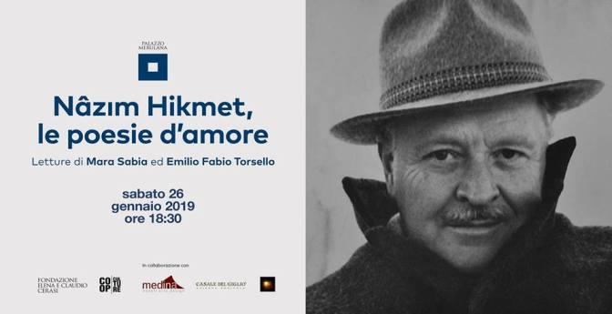 "26 gennaio 2019 ""Nazim Hikmet, le poesie d'amore"" letture al Palazzo Merulana"