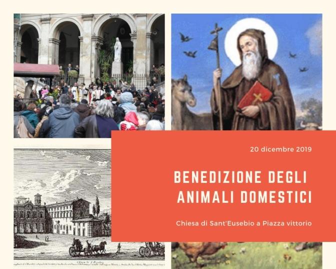 20 gennaio 2019 Tradizionale benedizione degli animali domestici presso la chiesa di Sant'Eusebio