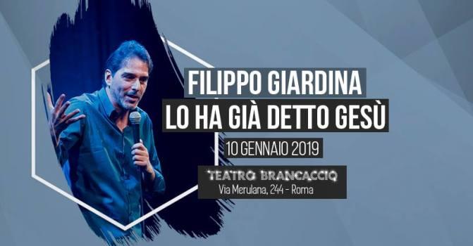 """10 gennaio 2019 """"Lo ha detto Gesù"""" al Teatro Brancaccio"""