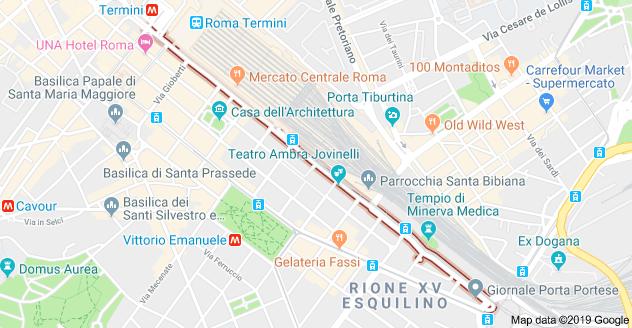 L'odierna via Giolitti esisteva anche in passato?