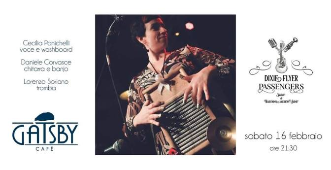"""16 febbraio 2019 """"Dixie Flyer Passengers -Swing and Traditional American Song"""" al Gatsby Cafè"""