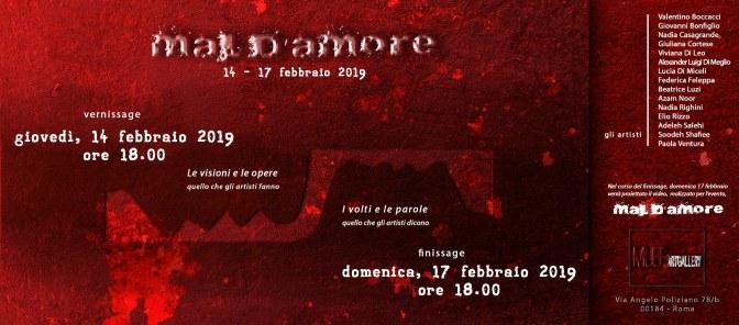 "14 – 17 febbraio 2019 ""Mal d'amore"" mostra d'arte presso MUEF Artgallery"