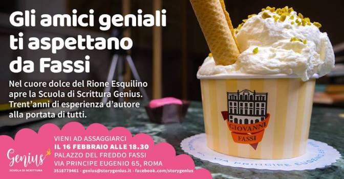 """16 febbraio 2019 """"Gli amici geniali ti aspettano da Fassi"""" evento al Palazzo del Freddo – Fassi"""