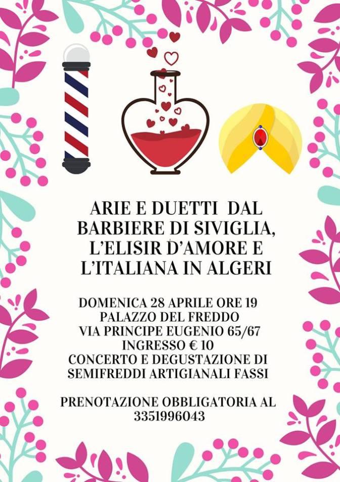 """28 aprile 2019 """"Arie e duetti da Opere celebri"""" al Palazzo del Freddo Fassi"""